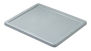 Palletote® storage container lids snap securely in place to keep contents safe.