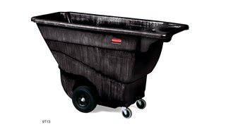 The Rubbermaid Commercial Tilt Dump Truck, Structural Foam, offers industrial strength construction to transport heavy loads up to 450 lbs.