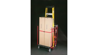 The Rubbermaid Commercial Ladder Cart provides greater mobility, enhanced access, safe ladder handling, and minimal storage requirements.