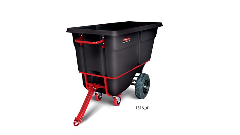 Durable rotational molded Towable Trainable Tilt Trucks handle heavy loads up to 1,400 lbs. with ease