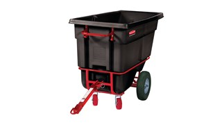 Durable rotational molded Towable Trainable Tilt Trucks handle heavy loads up to 1,500 lbs. with ease