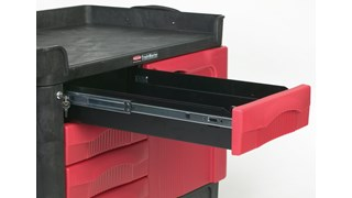 The TradeMaster Cart with 4 Drawers and Cabinet is a complete tool storage and mobile workbench system, with shelving and cabinet configurations to meet any storage needs.