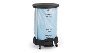 The Rubbermaid Commercial Premium Linen Hamper is a smart choice for large-capacity, hands-free waste collection.