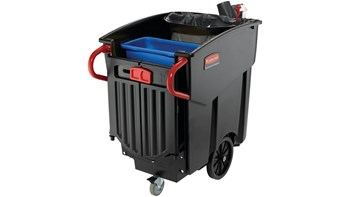 The Rubbermaid Commercial Mega BRUTE® Mobile Collector is a highly versatile way to handle large-scale waste collection and sorting.