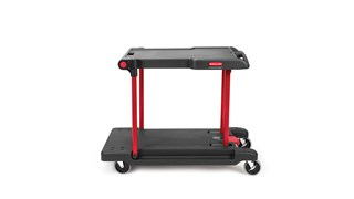 The Rubbermaid Commercial Utility Cart is a versatile, durable cart is able to perform a wide variety of tasks.