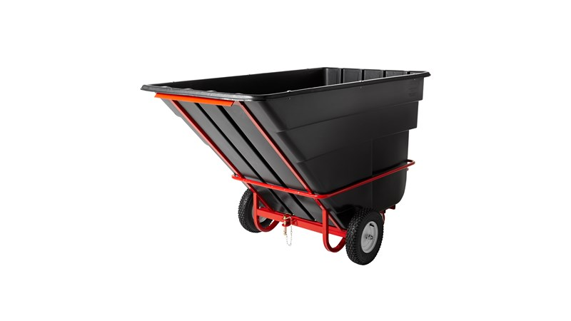 Durable rotational molded Towable Trainable Tilt Trucks handle heavy loads up to 2,100 lbs. with ease