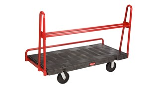 """The Rubbermaid Commercial A-Frame Panel Truck 30""""X60"""" with 8"""" POLYOLEFIN casters, 2000 lb. capacity"""