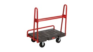 "The Rubbermaid Commercial A-Frame Panel Truck 24""X36"" with 6""POLYOLEFIN casters, 2000 lb. capacity"