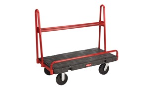 "The Rubbermaid Commercial A-Frame Panel Truck 24""X48"" with 8""POLYOLEFIN casters, 2000 lb. capacity"