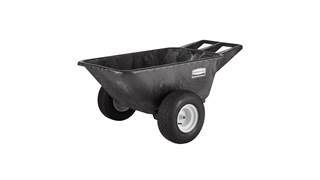 Rubbermaid Commercial Big Wheel Cart is a professional-grade wheelbarrow that can support up to 700 lbs.