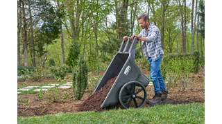 The Rubbermaid Commercial Big Wheel Cart is a professional-grade wheelbarrow that can support up to 300 lbs.