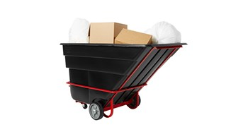 Durable rotational molded trucks handle heavy loads up to 2,100 lbs. with ease