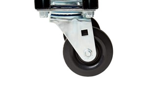 Durable rotational molded trucks handle heavy loads up to 1,250 lbs. with ease