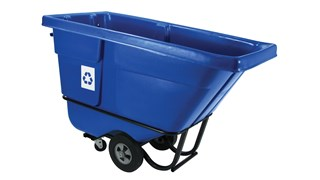 Durable rotational molded trucks handle heavy loads up to 850 lbs. with ease