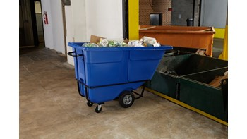 Rotomolded Tilt Truck, Standard Duty, 1 Cubic Yard, Blue