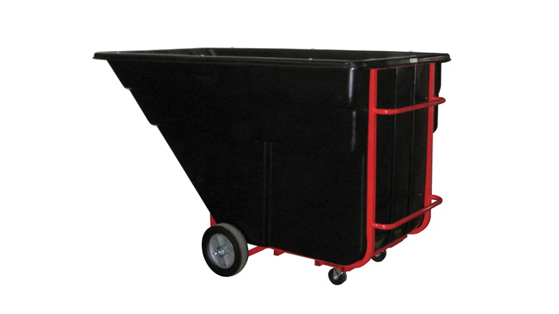 Durable rotational molded trucks handle heavy loads up to 1,200 lbs. with ease