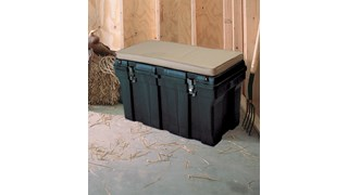 The Rubbermaid Commercial Tack Box gives you an all-purpose storage container to keep your items safe on the work site, in the stable and on the water.