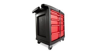 The 5-Drawer Mobile Work Center is a comprehensive mobile workbench with easy-to-organize tool storage.