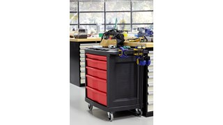The Rubbermaid Commercial Mobile Work Center, 5 -Drawer, provides a mobile work station for up to 250 lbs.
