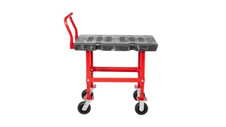 """The Rubbermaid Commercial Work Height Platform 24""""X36"""" with 6""""TPR casters, 2000 lb. capacity"""