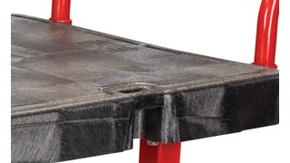 "The Rubbermaid Commercial Work Height Platform 24""X48"" with 8""TPR casters, 2000 lb. capacity"