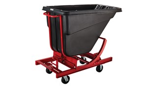 Large-capacity hoppers store and dump heavy loads up to 750 lbs. with ease.