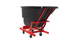 Large-capacity hoppers store and dump heavy loads up to 1,000 lbs. with ease.