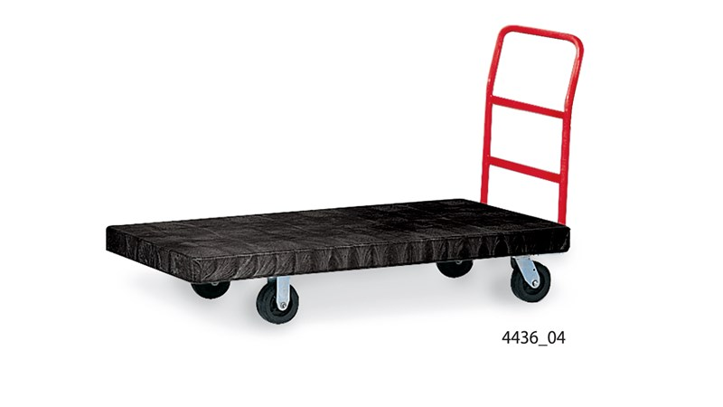 Heavy Duty Platform Trucks Heavy Duty Platform Truck 24 In X 48 In With 8 In Tpr Casters Rubbermaid Commercial Products