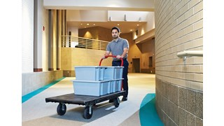 The Heavy-Duty Platform Truck is ideal for moving large, heavy, oversized loads efficiently throughout a facility with up to 2,000 lb. capacity.