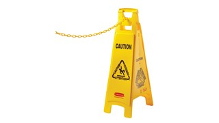 20 ft. chain attaches to Safety Cones to form a barrier.