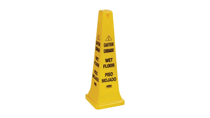 """Safety Cone FG627677 is a highly visible, 36"""", bright yellow hazard protection cone."""