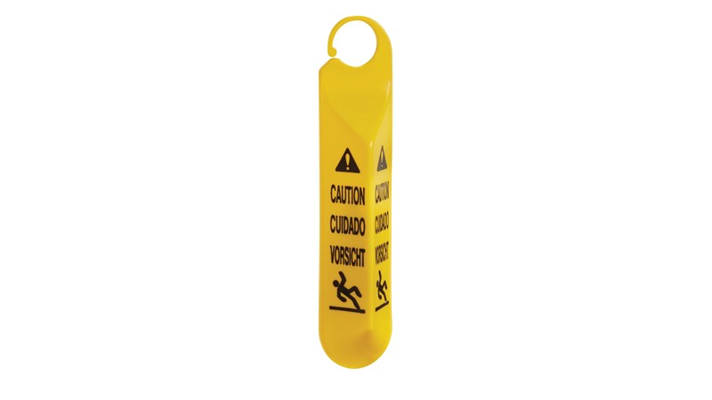 Ideal for use in stairways and on doors. Multilingual safety communication utilizes ANSI/OSHA-compliant color and graphics.