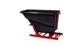 Large-capacity hoppers store and dump heavy loads with ease.