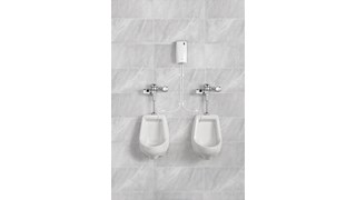 Cleans and deodorizes toilets and urinals while providing a  clean fresh scent for the restroom.