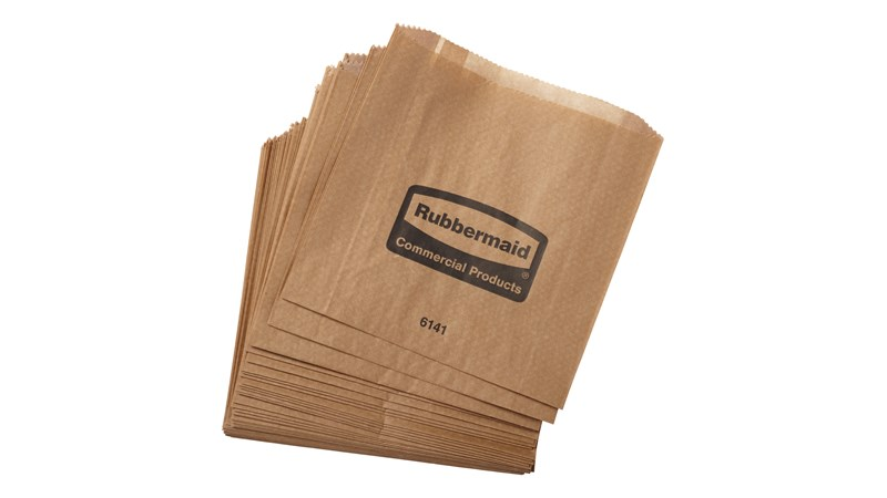 The Rubbermaid Commercial Waxed Sanitary Napkin Bags are waxed bags that are meant to line feminine hygiene bins, making them easier to clean.