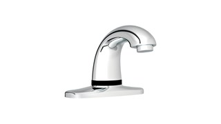 The Rubbermaid Commercial Milano Auto Faucet®  provides reliable touch-free activation promoting a cleaner and healthier environment.