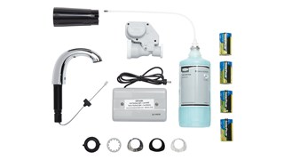 The OneShot® Lotion System sets the standard for quality and reliability in counter-mounted soap dispensing. Low Profile Starter Kit includes Chrome Liquid Dispenser, 800 ml Liquid Hand Wash Refill and 4 D Batteries.