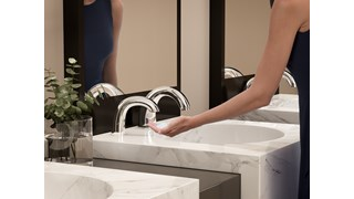 The AutoFaucet® is a user-friendly, automatic faucet that utilizes Surround Sensor™ Technology to dispense water only when needed. Touch-free activation helps reduce cross-contamination on user's hands.