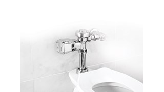 The Rubbermaid Commercial Clamp Automatic Flush Urinal Valve is a touch-free flushing system for urinals.