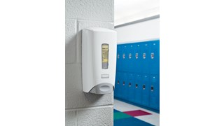The FLex™ Dispenser is a manual wall-mounted system featuring a revolutionary design that increases your facility's efficiency by using two different soaps, liquid or foam, with the purchase of one single dispenser.