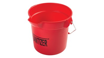 Heavy-duty thick wall construction. BRUTE® buckets have molded-in graduations for accurate measuring.