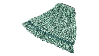 Web Foot® Microfiber String Mop is great for smooth to rough floors and large spill pickups. Designed with looped ends and blend yarn that has built-in antimicrobial protection –  lengthening the mops' useful life and giving floors a superior clean.