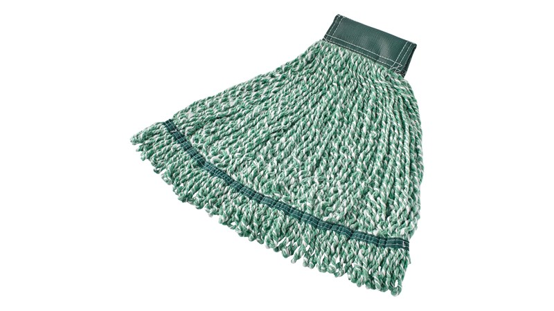 The Web Foot® Microfiber String Mop is great for smooth to rough floors and large spill pickups. Designed with looped ends and blend yarn that has built-in antimicrobial protection –  lengthening the mops' useful life and giving floors a superior clean.