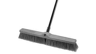 Fine Sweep Push Broom is designed to pick up the finest debris.