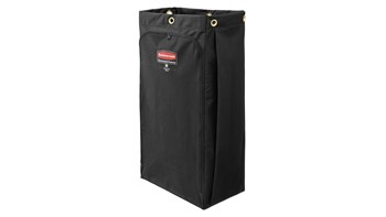 The Canvas Bag for Housekeeping Carts is a high-capacity waste collection bag that can hold up to 30 gallons of soiled linens or waste; keeping dirty items separate from the rest of the cart.