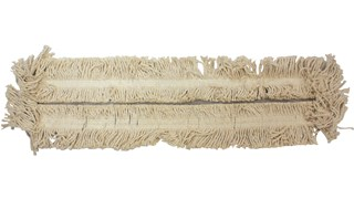 "Blended Cut-End Disposable Dust Mop 36"" has soft, open-twist, blended, cut-end yarn for increased dust pickup."