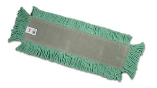 "Blended Cut-End Disposable Dust Mop 24"" has soft, open-twist, blended, cut-end yarn for increased dust pickup."