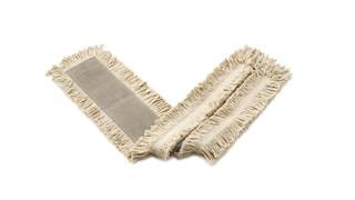 "Blended Cut-End Disposable Dust Mop 48"" FGL15700 has soft, open-twist, blended, cut-end yarn for increased dust pickup."