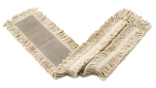 """Blended Cut-End Disposable Dust Mop 24"""" has soft, open-twist, blended, cut-end yarn for increased dust pickup."""