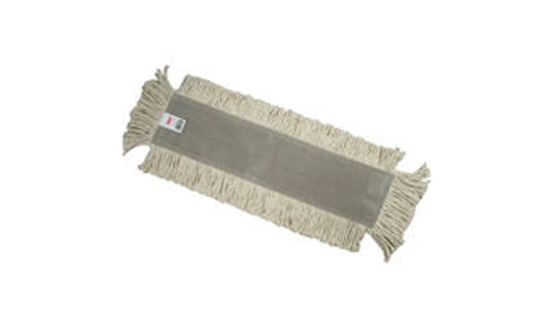 """Blended Cut-End Disposable Dust Mop 18"""" has soft, open-twist, blended, cut-end yarn for increased dust pickup."""